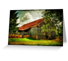 A Farm-Picture Greeting Card