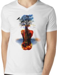 MUSIC IN SOUL Mens V-Neck T-Shirt