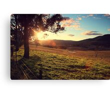 Sun shining in Oberon Canvas Print