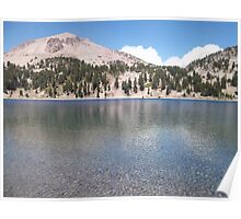 The crystal clear deep blue waters of lake Helen in Lassen Poster
