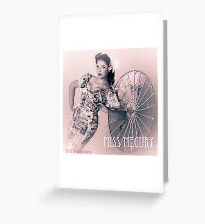 Fifties Glamour  Greeting Card