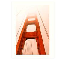 Golden gate  Bridge in the fog Art Print