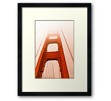 Golden gate  Bridge in the fog Framed Print