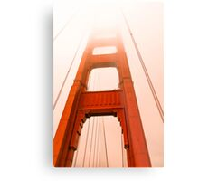 Golden gate  Bridge in the fog Metal Print