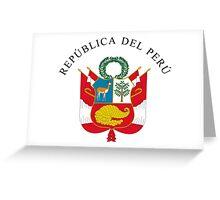 Great Seal of Peru Greeting Card
