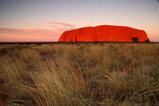 Ayers Rock Sunset by kcy011