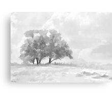 Snowy Scene Drawing Metal Print