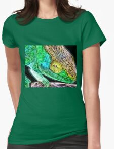 Wild nature - chameleon Womens Fitted T-Shirt