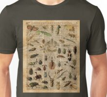 Insects Bugs Flies Vintage Illustration Dictionary Art Unisex T-Shirt