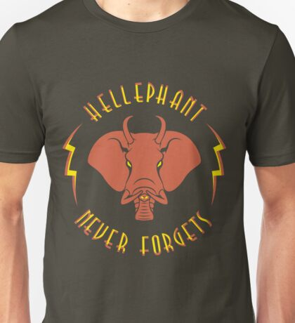 Hellephant - Pyrokinetic Red on Army Unisex T-Shirt