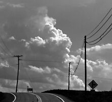 Clouds Ahead (black and white) by Nevermind the Camera Photography