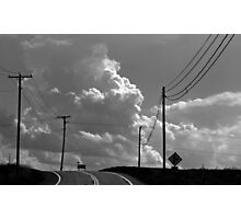 Clouds Ahead (black and white) Photographic Print