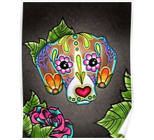 Day of the Dead Beagle Sugar Skull Dog Poster
