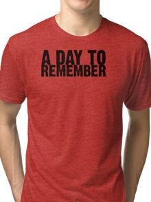 A Day To Remember - Black Tri-blend T-Shirt