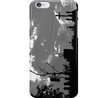 Religious Silhouettes (black and white) iPhone Case/Skin
