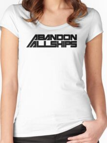 Abandon All Ships Women's Fitted Scoop T-Shirt