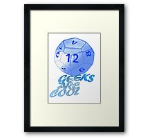 geeks are cool  Framed Print