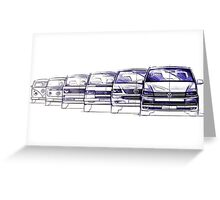 VW Bus Evolution Greeting Card