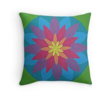 Rainbow Mandala Throw Pillow