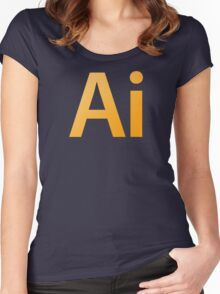 Adobe Illustrator Women's Fitted Scoop T-Shirt