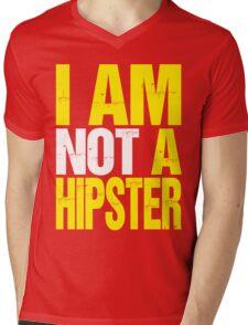 I Am Not A Hipster (yellow) Mens V-Neck T-Shirt