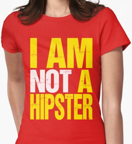 I Am Not A Hipster (yellow) T-Shirt