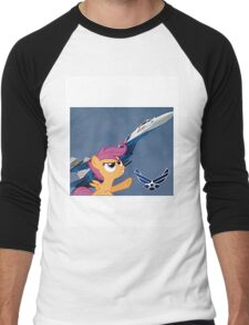 Scootalo Airforce Men's Baseball ¾ T-Shirt