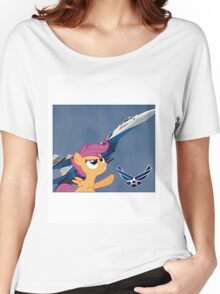 Scootalo Airforce Women's Relaxed Fit T-Shirt