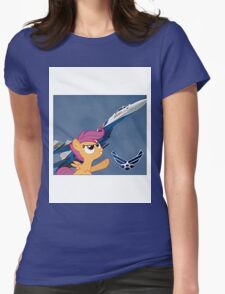 Scootalo Airforce Womens Fitted T-Shirt