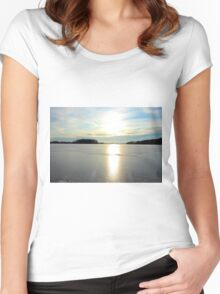 Herrestadsjön in winter season Women's Fitted Scoop T-Shirt