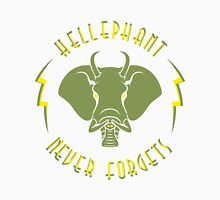 Hellephant - Maulive Green on Light Yellow Womens Fitted T-Shirt