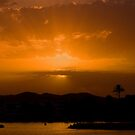 Sunset over Talamanca bay. by naranzaria