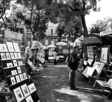 Paris square of Tertre by Pat Garret