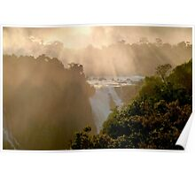 sunset at Iguassu Falls Poster