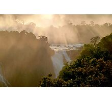 sunset at Iguassu Falls Photographic Print