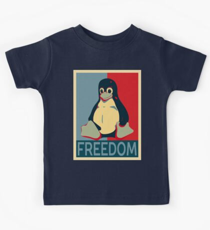 Tux Freedom for Linux Users Kids Tee