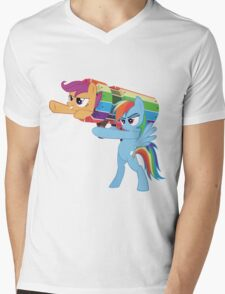 Rainbow Cannon Mens V-Neck T-Shirt