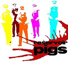 Reservoir Pigs (PC *colour*) Poster by Mother Shipton