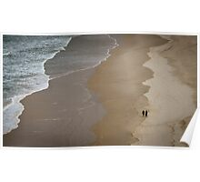 Quiet Beach Walk Poster