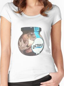 octopus in oil Women's Fitted Scoop T-Shirt