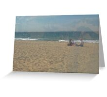 Beach scene through plastic Greeting Card