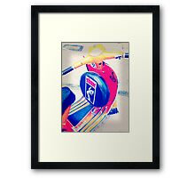 A Vespa.......with STYLE ! Framed Print