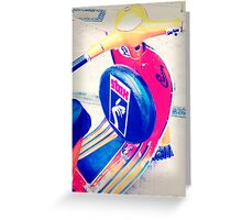 A Vespa.......with STYLE ! Greeting Card