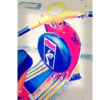 A Vespa.......with STYLE ! Photographic Print