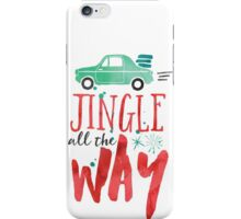Watercolor Jingle All The Way iPhone Case/Skin