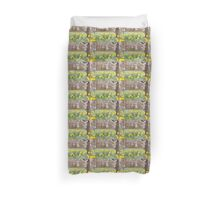 Cherry orchard and daffodils Duvet Cover
