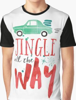 Watercolor Jingle All The Way Graphic T-Shirt