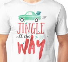 Watercolor Jingle All The Way Unisex T-Shirt
