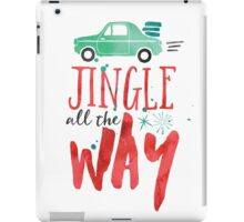 Watercolor Jingle All The Way iPad Case/Skin