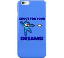 "MEGAMAN 8 BIT ""SHOOT FOR YOUR DREAMS"" iPhone Case/Skin"